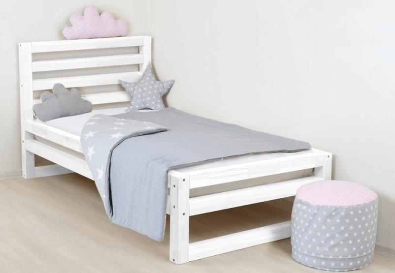 dětská postel klasická deluxe bílá