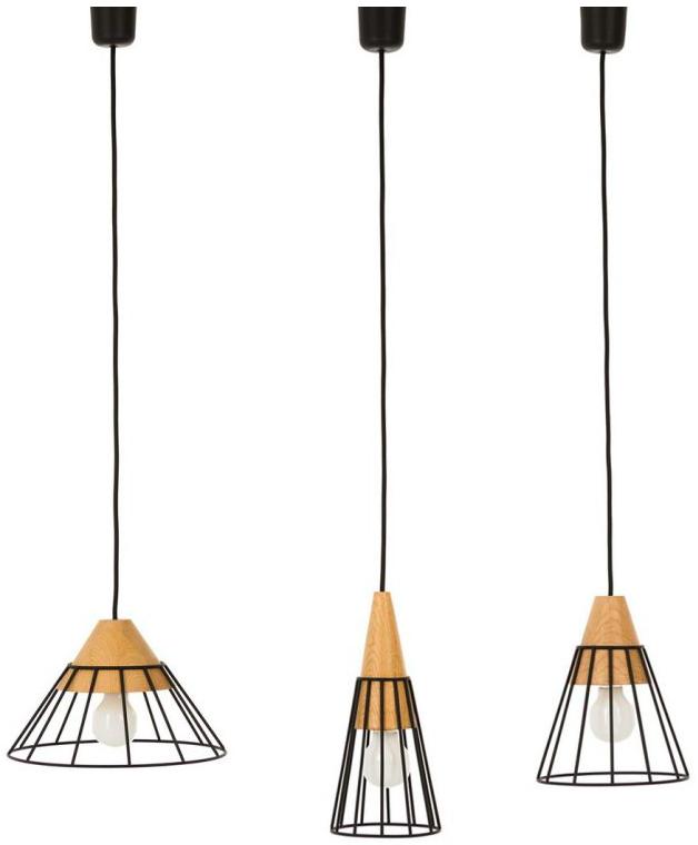 závěsné stropní osvětlení ze dřeva lampy